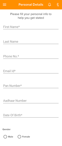 Personal Details Entry Form