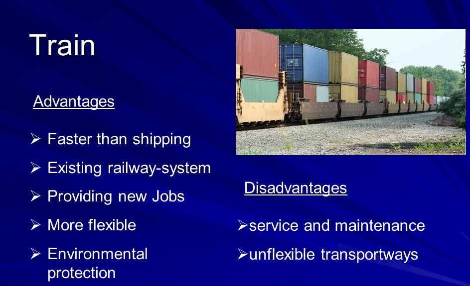 Know whether train or truck is more suited to transport goods
