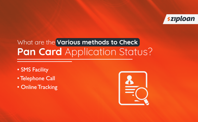 methods to Track Pan Card Application Status